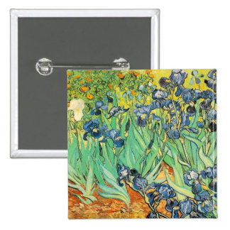 Van Gogh Irises Button