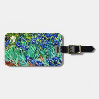 Van Gogh Irises (F608) Vintage Fine Art Luggage Tag