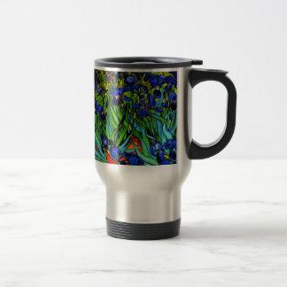 Van Gogh - Irises, famous painting by Van Gogh 15 Oz Stainless Steel Travel Mug