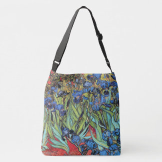 Van Gogh Irises Flowers Floral Garden Crossbody Bag