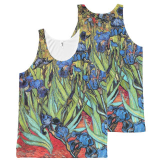 Van Gogh Irises Flowers Floral Impressionism All-Over-Print Tank Top