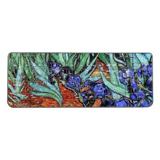 Van Gogh Irises Flowers Garden Wireless Keyboard