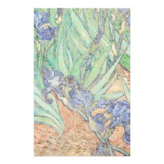 Van Gogh Irises Impressionism Stationery