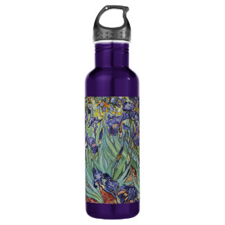 Van Gogh Irises Impressionist Flowers 710 Ml Water Bottle