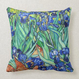 Van Gogh Irises Iris Flowers Throw Pillow