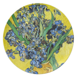 Van Gogh Irises Plate