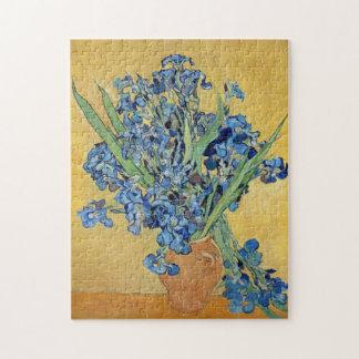 Van Gogh Irises Vase Flowers Floral Still Life Art Jigsaw Puzzle