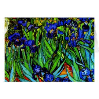 Van Gogh - Irises, Vincent Van Gogh painting Greeting Card