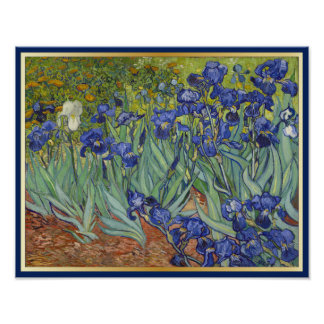 Van Gogh Irises Vintage Fine Art Floral Poster