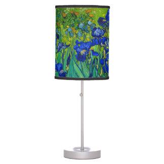Van Gogh Irises Vintage Floral Blue Table Lamp