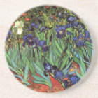 Van Gogh Irises, Vintage Garden Fine Art Coaster