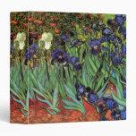 Van Gogh Irises, Vintage Garden Fine Art Vinyl Binder