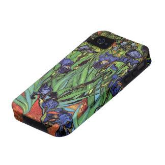 Van Gogh Irises, Vintage Post Impressionism Art Vibe iPhone 4 Cover