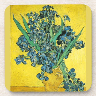 Van Gogh Irises yellow Coaster