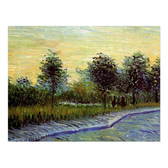 Van Gogh Lane in Voyer d'Argenson Park at Asnieres Postcard