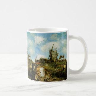 Van Gogh Le Moulin de la Galette, Vintage Windmill Coffee Mug