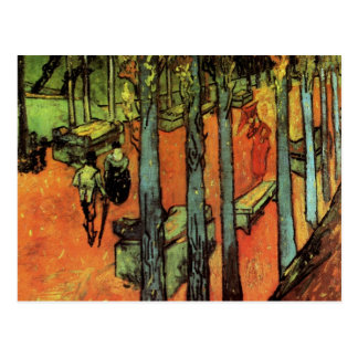 Van Gogh; Les Alyscamps: Falling Autumn Leaves Postcard