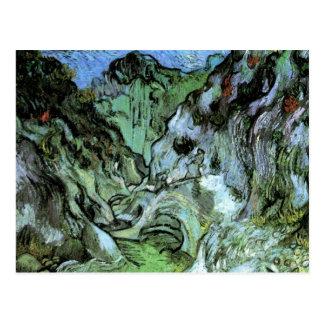 Van Gogh Les Peiroulets Ravine, Vintage Fine Art Postcard