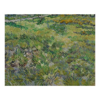 Van Gogh, Long Grass with Butterflies Poster