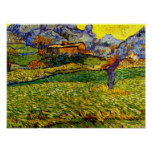 Van Gogh - Meadow in the Mountains Poster