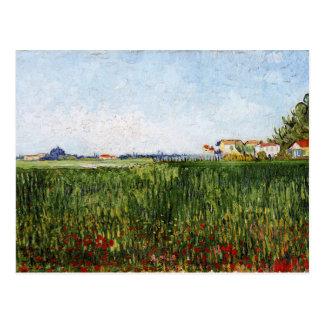 Van Gogh - Meadows with Poppies Postcard