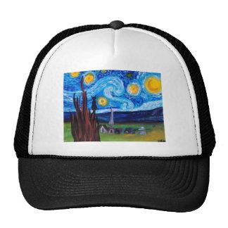 Van Gogh Meow Trucker Hat