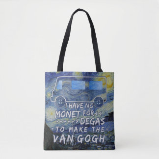 Van Gogh Monet Degas Funny Artist Pun Starry Night Tote Bag