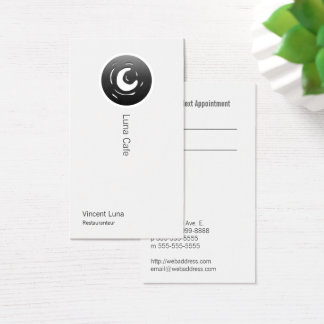 Van Gogh Moon Button Business Card