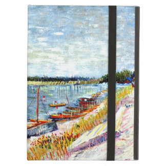 Van Gogh - Moored Boats, Vincent Van Gogh painting Case For iPad Air