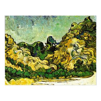 Van Gogh - Mountain Landscape at Saint-Remy Postcard