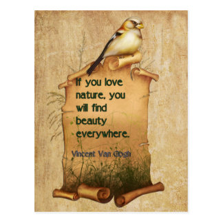 """Van Gogh"" nature quote card Postcard"