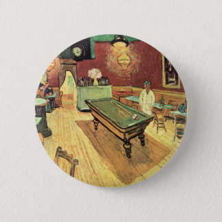 Van Gogh Night Cafe in the Place Lamartine, Arles 2 Inch Round Button
