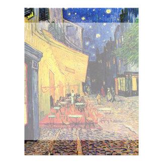 Van Gogh Night Cafe Terrace on the Place du Forum Customized Letterhead