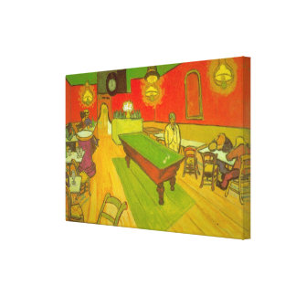 Van Gogh Night Cafe, Vintage Fine Art Canvas Print