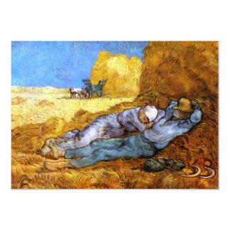 "Van Gogh: Noon Rest from Work 5"" X 7"" Invitation Card"
