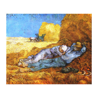 Van Gogh: Noon Rest from Work Canvas Print