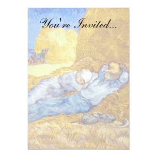 Van Gogh - Noon Rest From Work 5x7 Paper Invitation Card