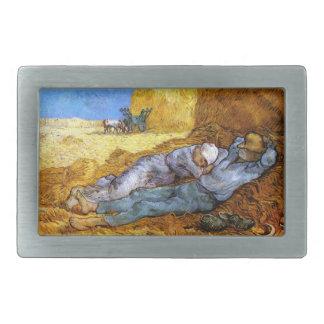 Van Gogh: Noon Rest from Work Rectangular Belt Buckle