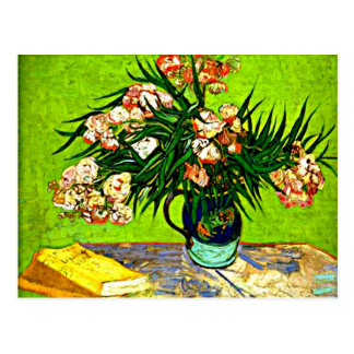 Van Gogh - Oleanders and Books Postcard