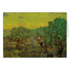 Van Gogh Olive Grove Picking Figures, Fine Art Card