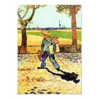 "Van Gogh: Painter on His Way to Work 5"" X 7"" Invitation Card"