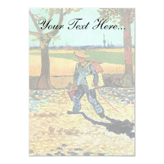 Van Gogh - Painter On His Way To Work 5x7 Paper Invitation Card