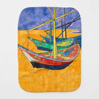 Van Gogh Painting Famous Boats Burp Cloth