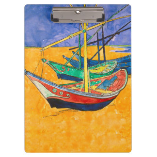 Van Gogh Painting Famous Boats Clipboards