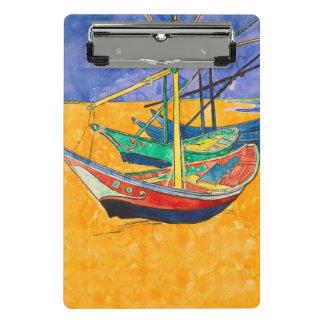 Van Gogh Painting Famous Boats Mini Clipboard