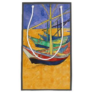Van Gogh Painting Famous Boats Small Gift Bag