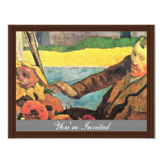 Van Gogh Painting Sunflowers By Paul Gauguin Personalized Announcement