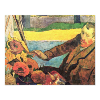 Van Gogh Painting Sunflowers By Paul Gauguin Custom Invite