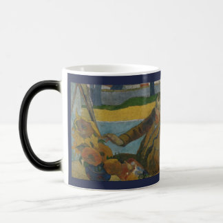 Van Gogh Painting Sunflowers by Paul Gauguin Magic Mug