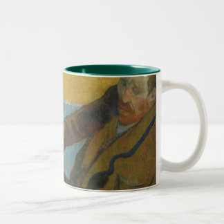 Van Gogh Painting Sunflowers by Paul Gauguin Two-Tone Coffee Mug